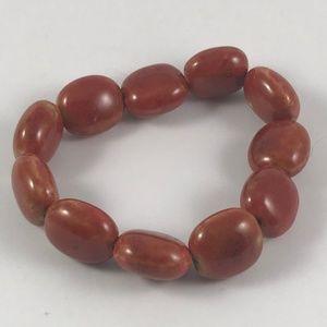 Vintage Gemstone Stretch Bracelet Gemstone Jewelry